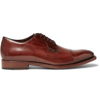 Paul Smith Ernest Polished Leather Derby Shoes Brown