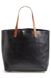 Madewell 'The Transport' Leather Tote Black True Black