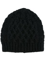 Maison Martin Margiela Cable Knit Hat Black