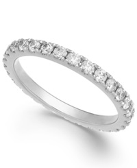 Arabella Swarovski Zirconia Infinity Band In 14K White Gold Clear