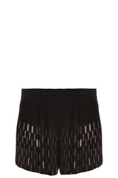 Anthony Vaccarello Embellished Skort Black