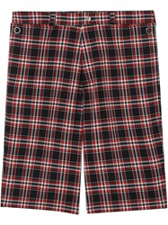 Burberry Check Wool Shorts Multicolour