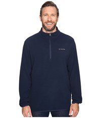 Columbia Big Tall Ridge Repeat Half Zip Fleece Collegiate Navy Men's Sweatshirt
