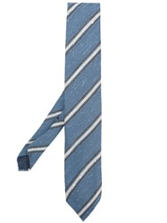 Lardini Classic Striped Tie Blue