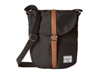 Herschel Kingsgate Black Tan Synthetic Leather Backpack Bags