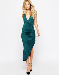 Rock And Religion Jersey Wrap Dress Teal Green