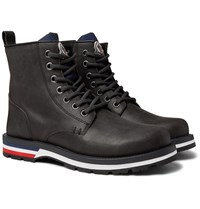 Moncler New Vancouver Suede Boots Gray