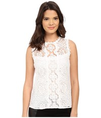 Nanette Lepore Rays Of Light Top Ivory Women's Sleeveless White