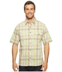 Woolrich Performance Shirt Peat Men's Short Sleeve Button Up Khaki