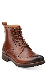Men's Clarks 'Montacute Lord' Wingtip Boot Tan Leather