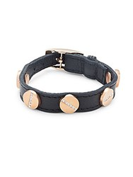 Cc Skye Crystal Studded Leather Bracelet Gold