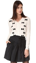 Marc Jacobs Long Sleeve Bow Cardigan Ivory Multi