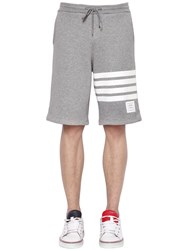 Thom Browne Intarsia Stripes Cotton Shorts