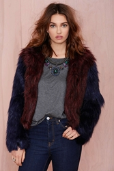 Nasty Gal Glamorous Double Trouble Faux Fur Coat