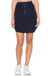 Michael Stars Playa Stripe Drawstring Mini Skirt Blue