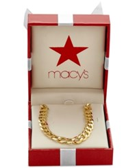 Macy's Men's Curb Link Chain Necklace In 10K Gold Yellow Gold