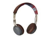 Skullcandy Grind 2015 Americana Plaid Gray Headphones Brown