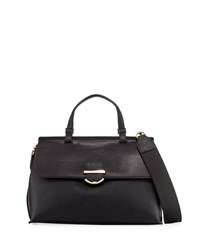Cynthia Rowley Hudson Faux Leather Satchel Bag Black