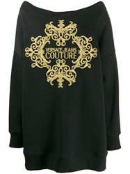Versace Jeans Couture Oversized Knitted Jumper Black