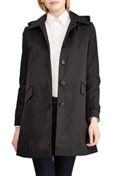 Lauren Ralph Lauren Hooded Raincoat Black