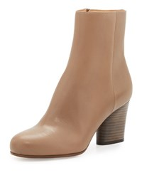 Maison Martin Margiela Leather 70Mm Ankle Boot Taupe Black