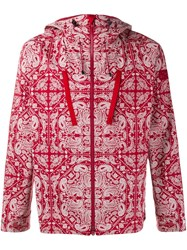 White Mountaineering Bandana Print Hooded Jacket Red