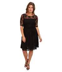 Kiyonna Luna Lace Dress Black Noir Women's Dress