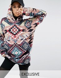 Jaded London X Granted Oversized Snuggle Hoodie Multi