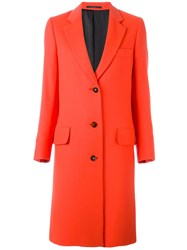Paul Smith Classic Mid Coat Red