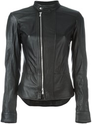 Diesel Black Gold Zipped Collar Band Jacket