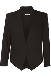 Helmut Lang Cropped Wool Blend Blazer Black