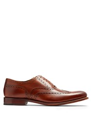 Grenson Dylan Leather Brogues Brown