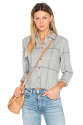 Joe's Jeans Carlie Crop Shirt Grey