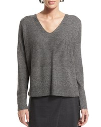 Eileen Fisher Long Sleeve V Neck Top Women's African Violet