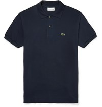 Lacoste Cotton Piqua Polo Shirt Navy