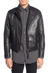 Men's Tiger Of Sweden 'Rikki' Lambskin Leather Biker Jacket
