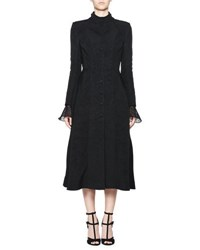 Olivier Theyskens Treves Single Breasted A Line Dress Coat Black