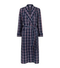 Derek Rose Barker Pipe Check Robe Male Multi