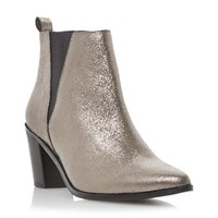 Dune Preslee Pointed Toe V Cut Chelsea Boots Pewter