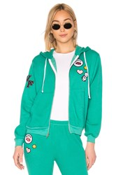 Wildfox Couture Regan Zip Hoodie Green