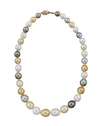 Belpearl 14K Multicolored Tahitian And South Sea Pearl Necklace