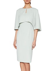 Gina Bacconi Moss Crepe Cape Jacket And Dress Ciel
