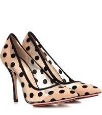 Charlotte Olympia Polka Dot Pumps Black