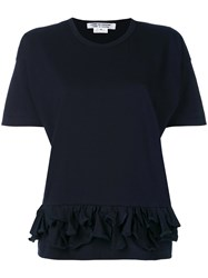 Comme Des Garcons Ruffled T Shirt Women Cotton M Black