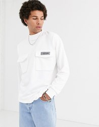 Sixth June Utility Sweat In White