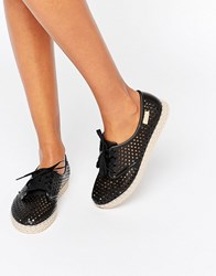 Zaxy Lace Up Espadrille Black
