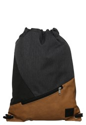 Your Turn Rucksack Cognac Black Dark Grey