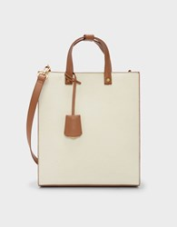 Charles And Keith Structured Tote Bag Cream