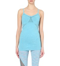 Sweaty Betty Mukha Bonded Stretch Yoga Cami Top Toucan Blue