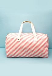 Forever 21 Ban.Do The Getaway Duffle Bag White Pink